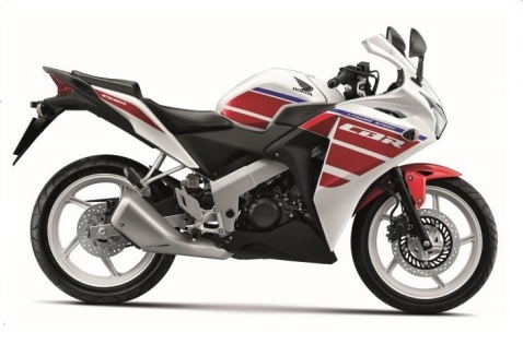 CBR150R White/Red Plastic Parts (NH196)