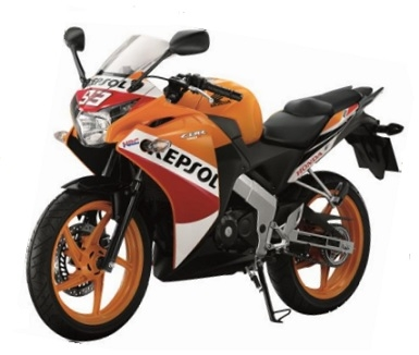 CBR150R Orange/White Plastic Parts (YR271)