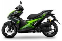 Yamaha Aerox Black-Green Plastic Set