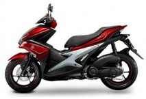 Yamaha Aerox Red-Silver Plastic Set
