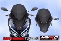 Honda PCX 150 2018/2019 Italy Twotone Windshield