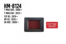 T-MAX 500/530/YZF-R3/MT-03/SR400 Hurricane Air Filter (Cotton Gauze)