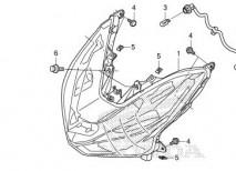 Honda Click Headlight Unit