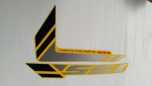 Yamaha Aerox 155 Graphic Set, Left Body Cowling