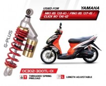 Yamaha Mio G-Plus YSS Shock Absorbers (Gold Series) - OC302-300TL-01