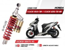 Honda Click G-Plus YSS Shock Absorbers (Gold Series) - OC302-330TL-10